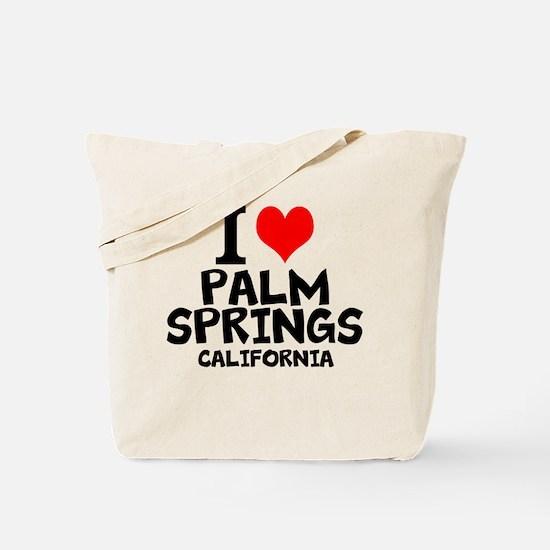 I Love Palm Springs, California Tote Bag