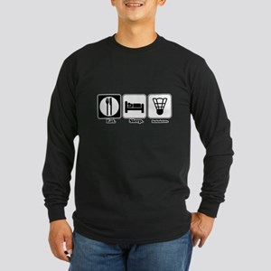 Eat. Sleep. Badminton. Long Sleeve Dark T-Shirt