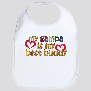 Gampa is My Best Buddy Bib