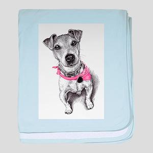 Terrier Dog baby blanket