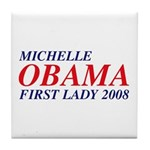 Michelle Obama First Lady 2008 Tile Coaster