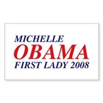 Michelle Obama First Lady 2008 Sticker (Rect. 50)
