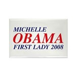 Michelle Obama First Lady 2008 Rect. Magnet (10)