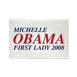Michelle Obama First Lady 2008 Rectangle Magnet