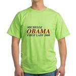 Michelle Obama First Lady 2008 Green T-Shirt