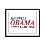 Michelle Obama First Lady 2008 Framed Panel Print