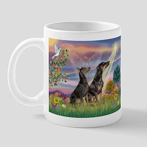 Cloud Angel & Dobie Pair Mug