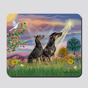 Cloud Angel & Dobie Pair Mousepad
