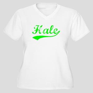 Vintage Hale (Green) Women's Plus Size V-Neck T-Sh