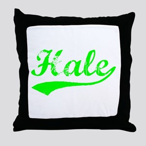 Vintage Hale (Green) Throw Pillow