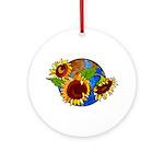 Sunflower Planet Ornament (Round)