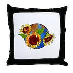 Sunflower Planet Throw Pillow
