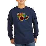 Sunflower Planet Long Sleeve Dark T-Shirt