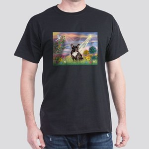 Cloud Angel / Fr Bulldog (brin) Dark T-Shirt