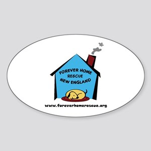 Forever Home Rescue Oval Sticker