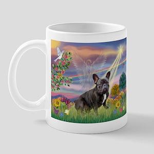 Cloud Angel / Fr Bulldog (bl &w) Mug