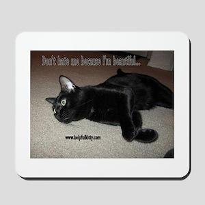 Beautiful Helpful Kitty Mousepad