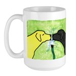 Labs Like to Share Large Mug