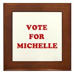 Vote for Michelle Framed Tile