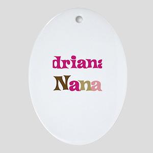 Adriana's Nana Oval Ornament
