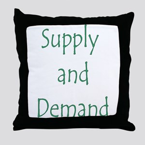 Supply and Demand Throw Pillow