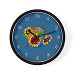 Sunflower Planet Wall Clock