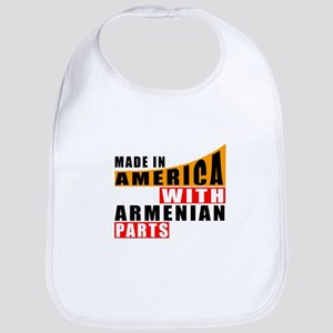Made In America With Armenian Part Cotton Baby Bib