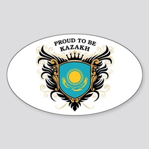 Proud to be Kazakh Oval Sticker