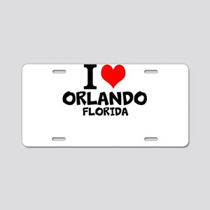 I Love Orlando, Florida Aluminum License Plate