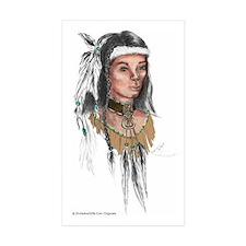 Native American Warrior Sticker (Rectangle 50 pk)