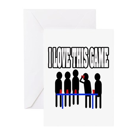 """""""I Love Flip Cup"""" Greeting Cards (Pk of 10)"""