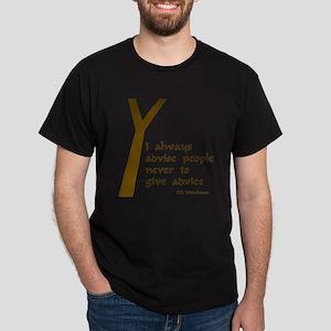 Wodehouse Advice Dark T-Shirt