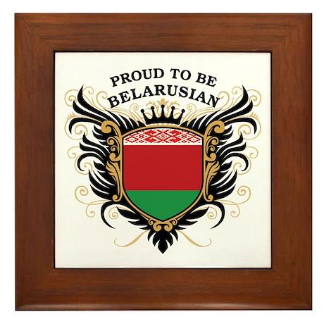 Proud to be Belarusian Framed Tile