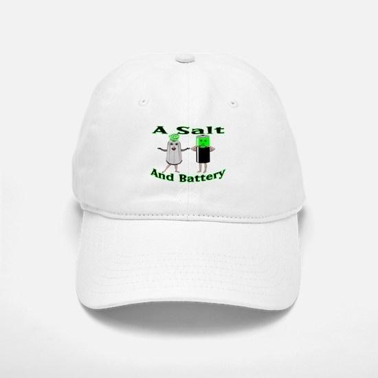A Salt And Battery Baseball Baseball Cap