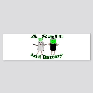A Salt And Battery Bumper Sticker