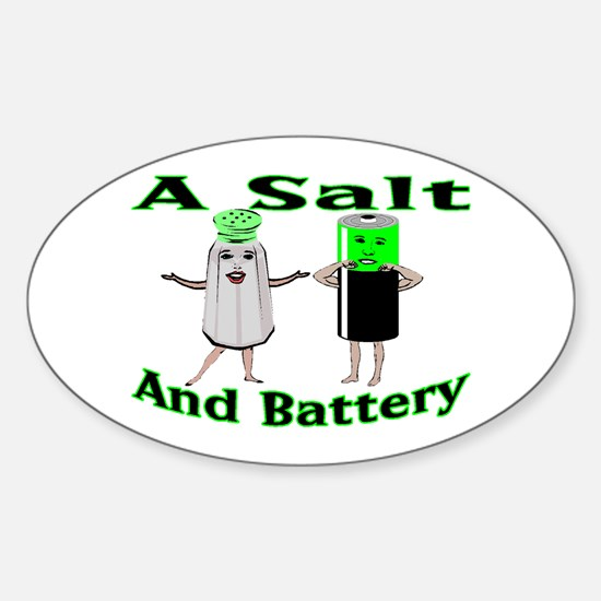 A Salt And Battery Oval Decal