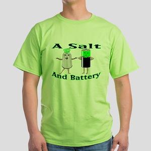 A Salt And Battery Green T-Shirt