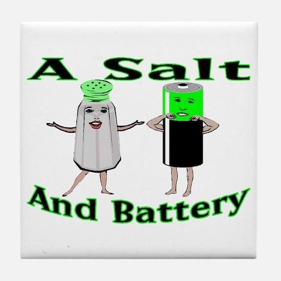 A Salt And Battery Tile Coaster