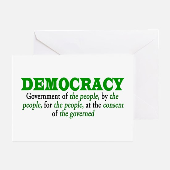 DEMOCRACY Greeting Cards (Pk of 10)