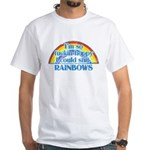 Happy Rainbows White T-Shirt