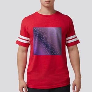 silver,gold,metal music note in shiny purp T-Shirt
