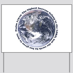 Religious Earth Day Yard Sign