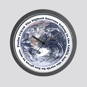 Religious Earth Day Wall Clock
