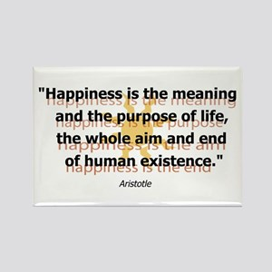 Happiness by Aristotle Rectangle Magnet