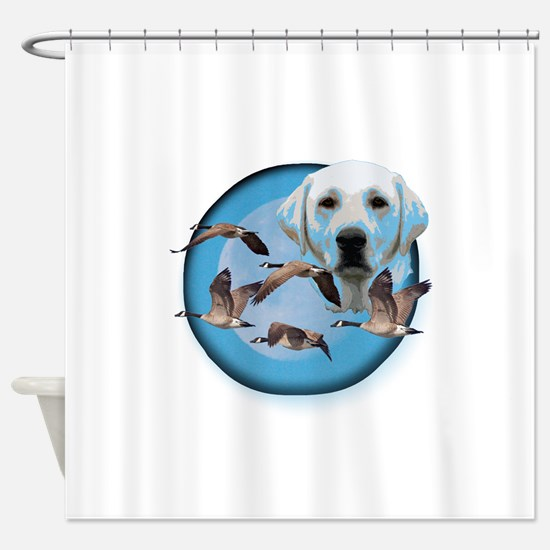 Goose Hunter Lab 3 Shower Curtain