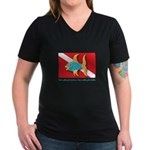 Nothing but bubbles Women's V-Neck Dark T-Shirt