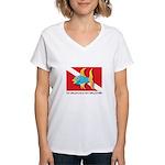 Nothing but bubbles Women's V-Neck T-Shirt