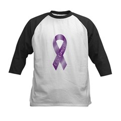 Cure Cancer Purple Ribbon Kids Baseball Jersey