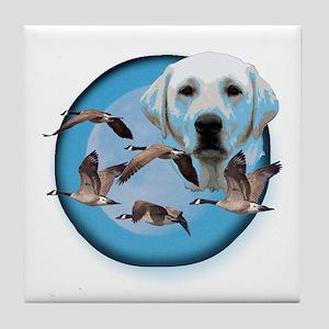 Goose Hunter Lab 3 Tile Coaster