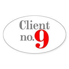 Client 9 Oval Sticker (10 pk)
